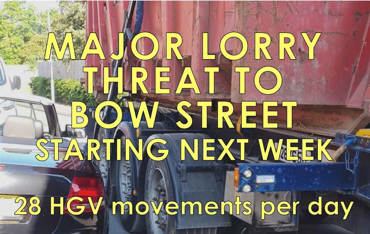 Stop Network Rail using Langport Town Centre to transport heavy loads 28 times a day