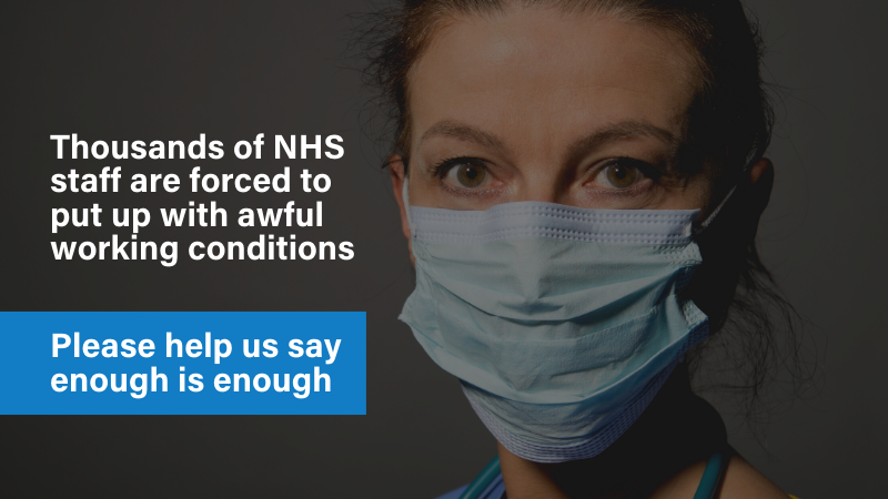 Give NHS staff access to appropriate change, rest, and sleep facilities